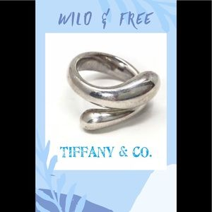 100% AUTHENTIC TIFFANY & CO. TEAR DROP RING 925 💍